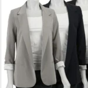NECESSARY OBJECTS Gray Boyfriend Blazer Coat NWT